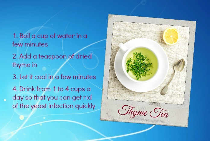 home remedies for yeast infection - thyme tea