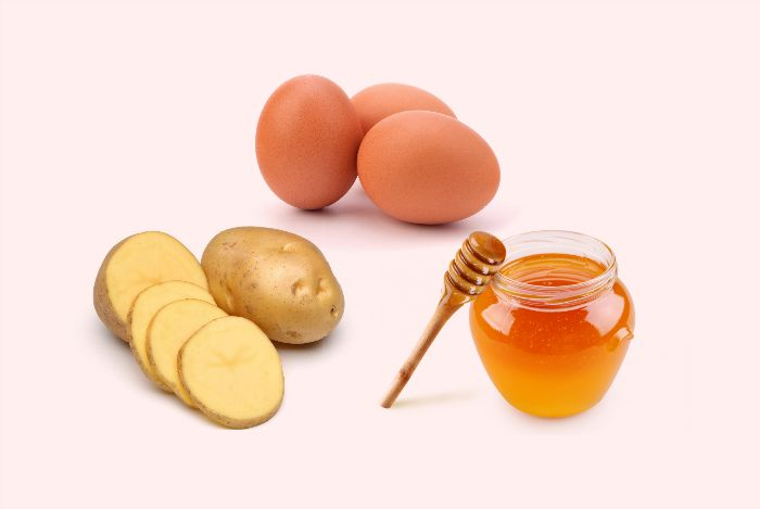 home remedies for hair growth - potato juice, egg, and honey