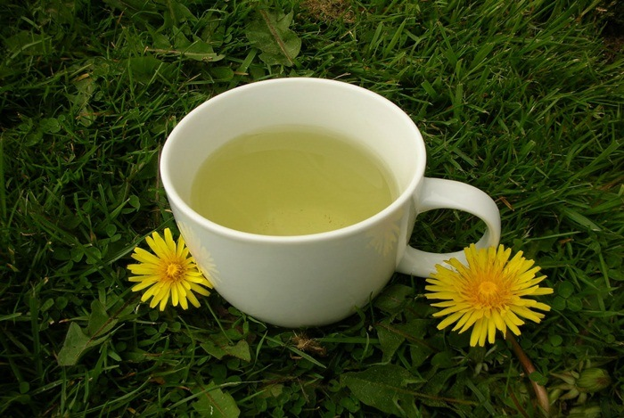 home remedies for constipation - dandelion tea
