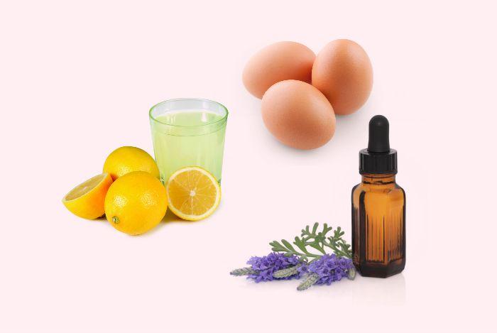 egg lemon juice and lavender oil