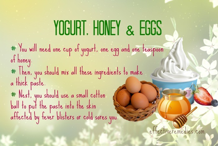 home remedies for fever blisters - yogurt, honey, & eggs