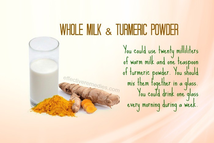 home remedies for fever blisters - whole milk & turmeric powder
