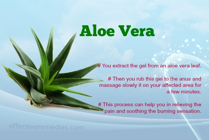 home remedies for hemorrhoids - aloe vera
