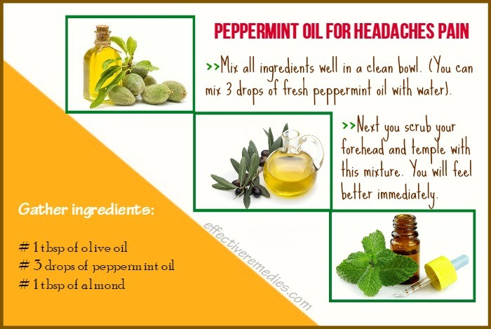 home remedies for headaches - peppermint oil