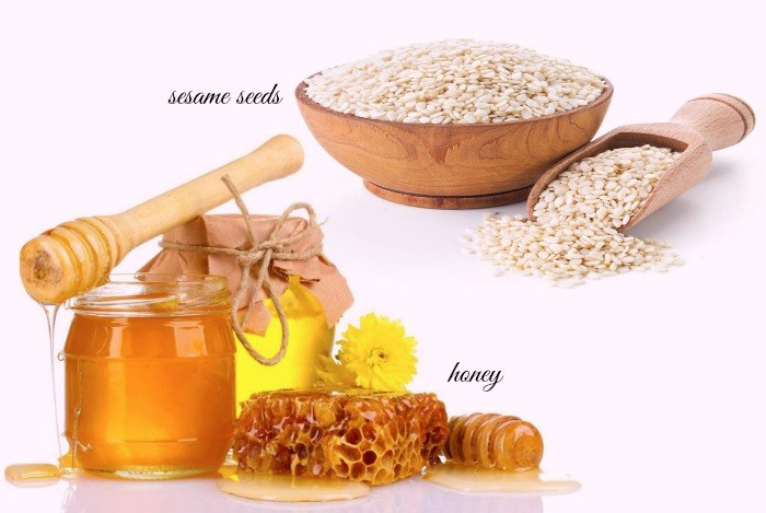 Sesame seeds With Water And Honey