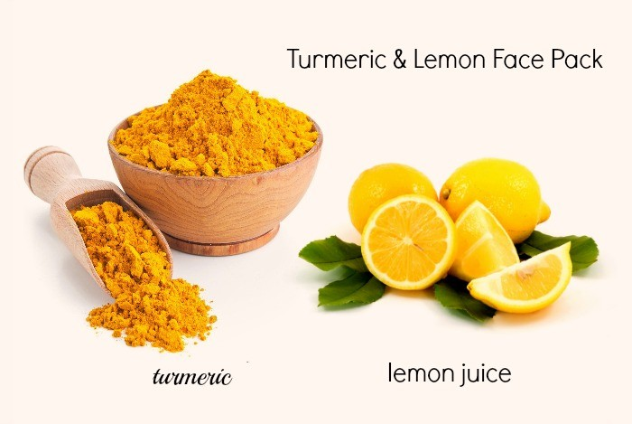 how to get beautiful skin - turmeric and lemon face pack