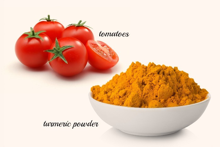 how to get beautiful skin - turmeric and tomato face pack