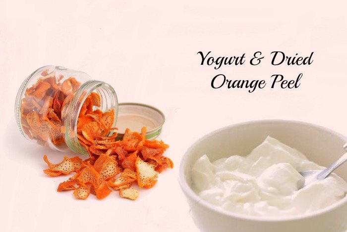 how to get beautiful skin - yogurt and dried orange peel