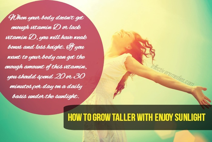 how to grow taller - enjoy sunlight