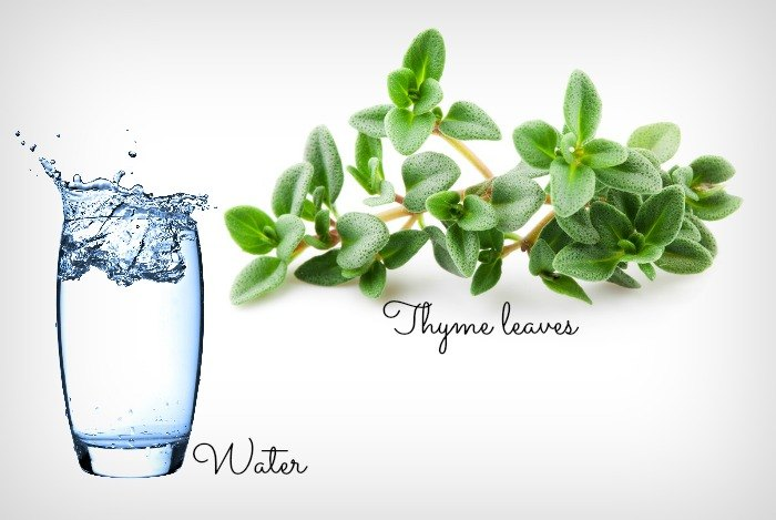 home remedies for bad breath - thyme leaves and water