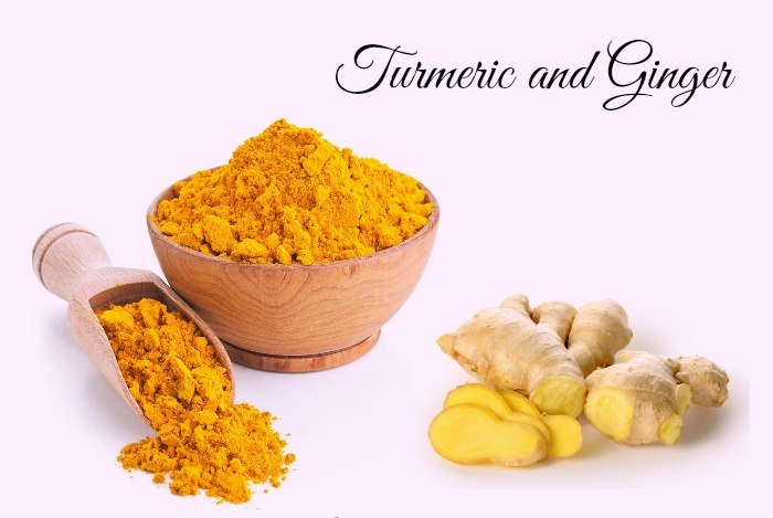 home remedies for boils - turmeric and ginger