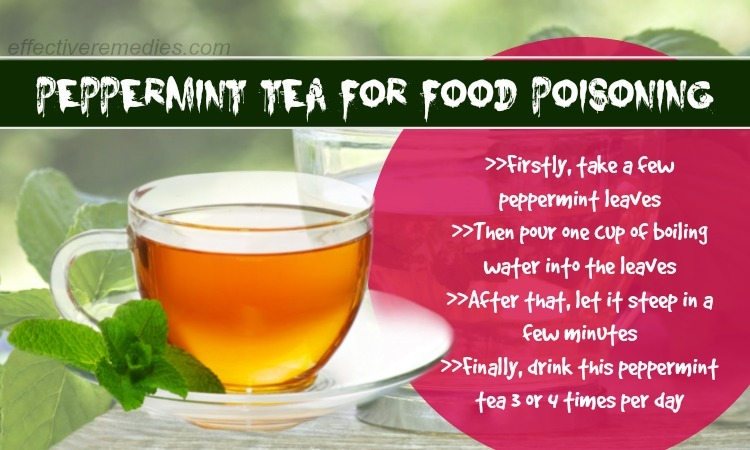 home remedies for food poisoning - peppermint tea