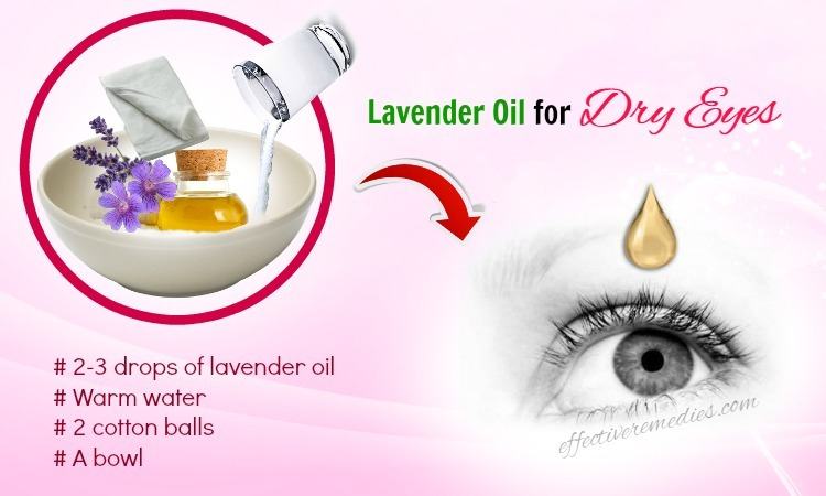 home remedies for dry eyes - lavender oil