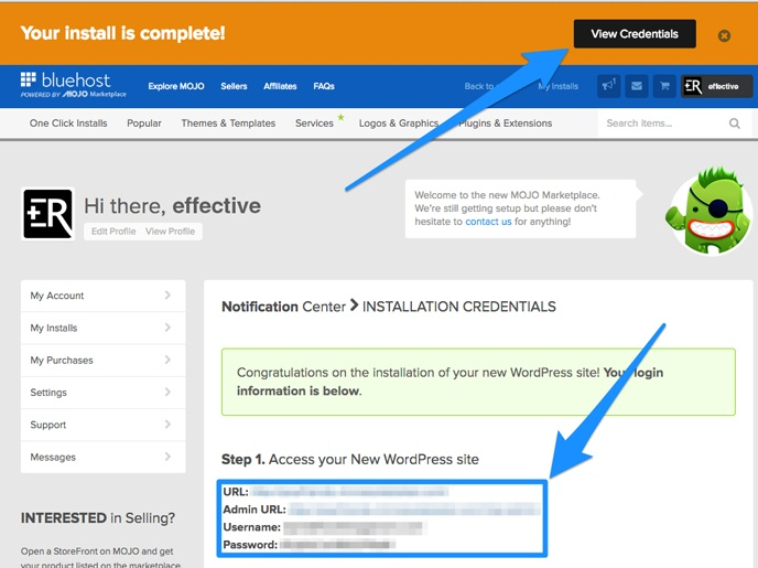 view wordpress credentia