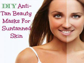DIY anti-tan beauty masks for suntanned skin