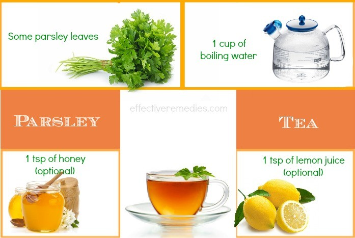 home remedies for restless leg syndrome - parsley tea