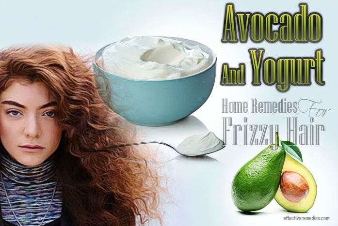 home remedies for frizzy hair - avocado and yogurt