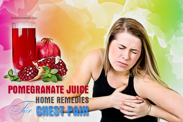 home remedies for chest pain - chest pain with pomegranate juice