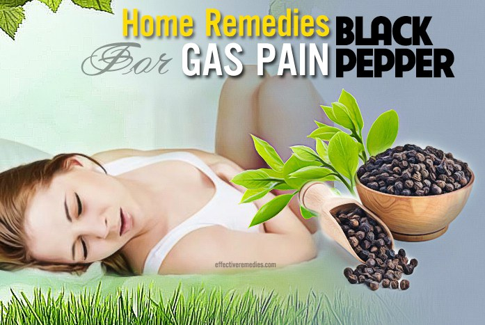 home remedies for gas pain - black pepper