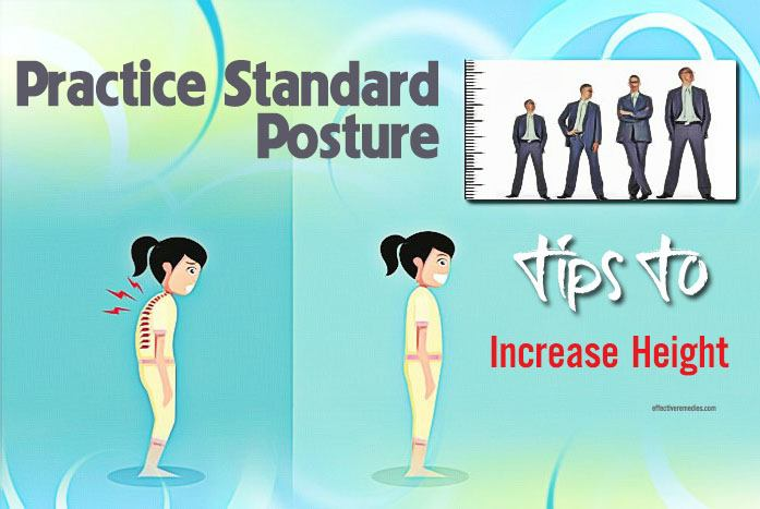 tips to increase height - practice standard posture