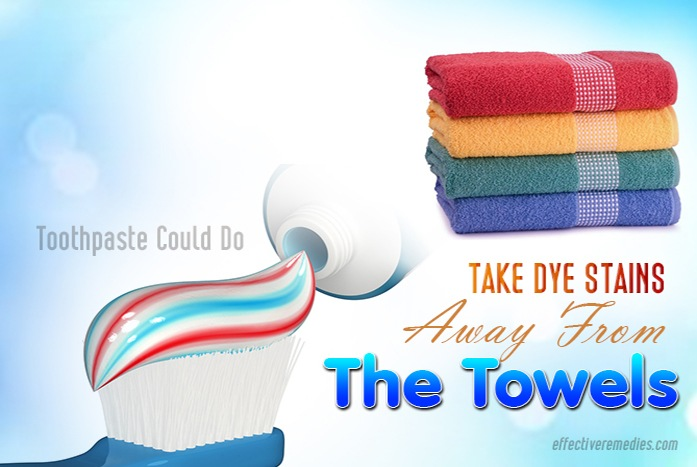 tricks i never imagined that toothpaste could do - take dye stains away from the towels