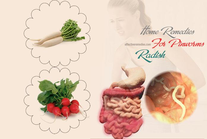 home remedies for pinworms - radish