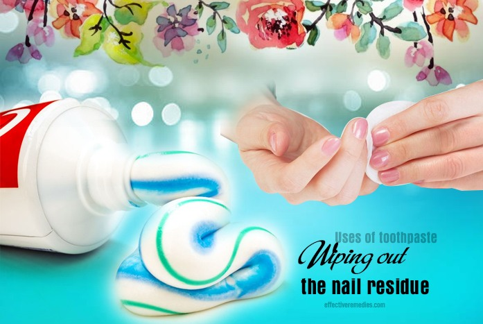 wiping out the nail residue