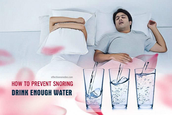 how to prevent snoring - drink enough water