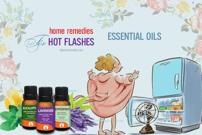 home remedies for hot flashes - essential oils