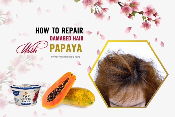 how to repair damaged hair - papaya
