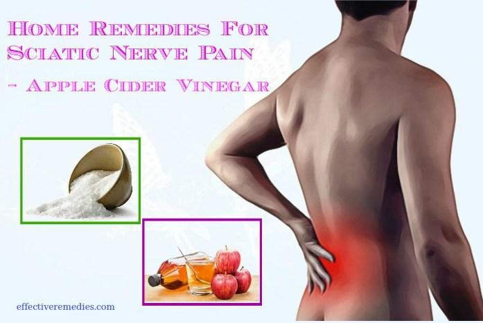 home remedies for sciatic nerve pain - apple cider vinegar