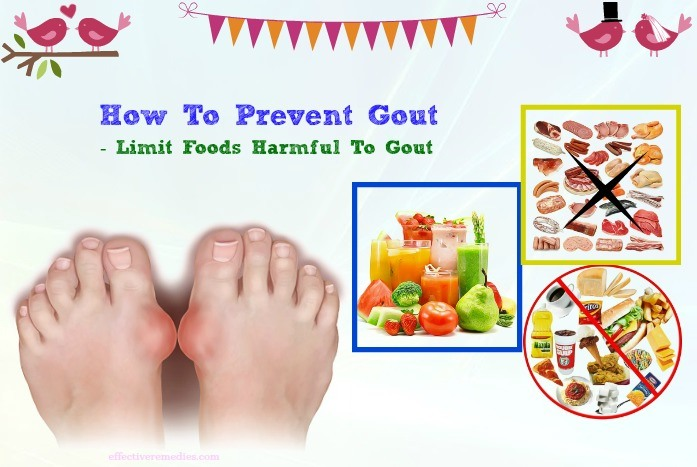 how to prevent gout flares - limit foods harmful to gout