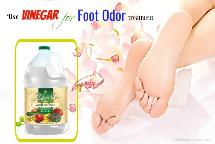 how to prevent foot odor - use vinegar for foot odor treatment