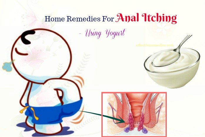 best home remedies for anal itching - yogurt