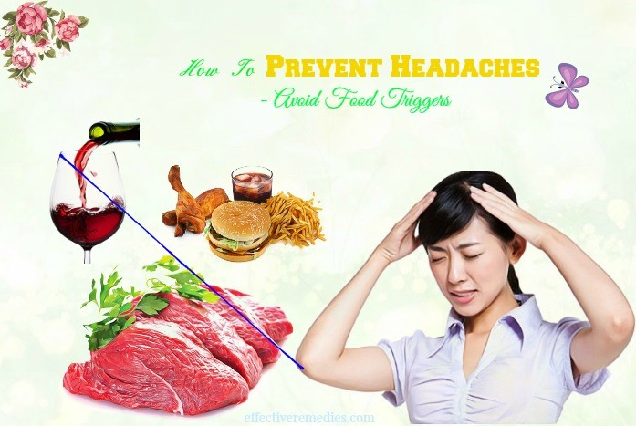 how to prevent headaches at work - avoid food triggers