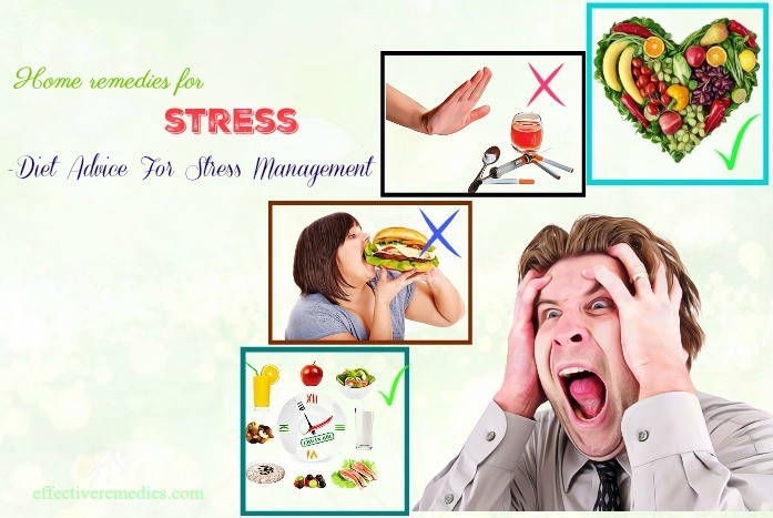 best home remedies for stress - diet advice for stress management