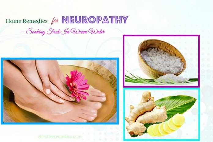 home remedies for neuropathy in legs - soaking foot in warm water