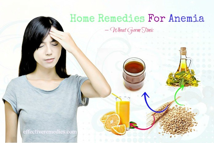 home remedies for anemia - wheat germ tonic