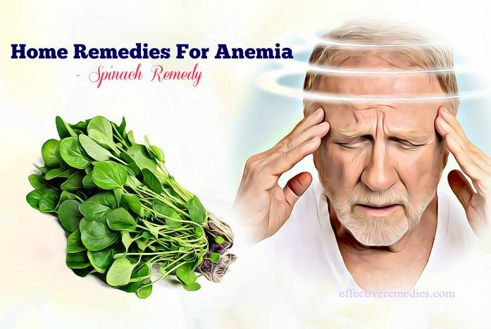 home remedies for anemia - spinach remedy