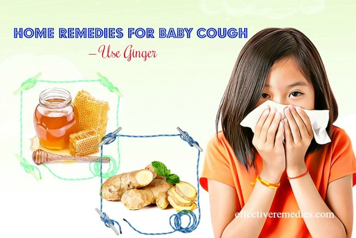 home remedies for baby cough and runny nose - ginger