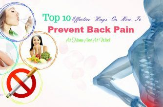 how to prevent back pain at home