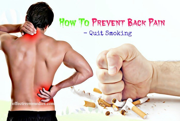 how to prevent back pain at work - quit smoking