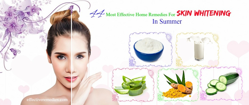 effective home remedies for skin whitening