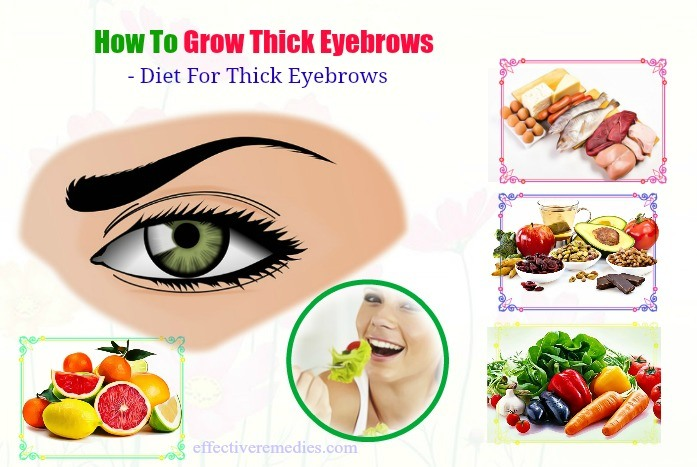 diet for thick eyebrows
