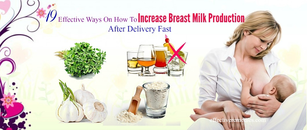 how to increase breast milk production after delivery