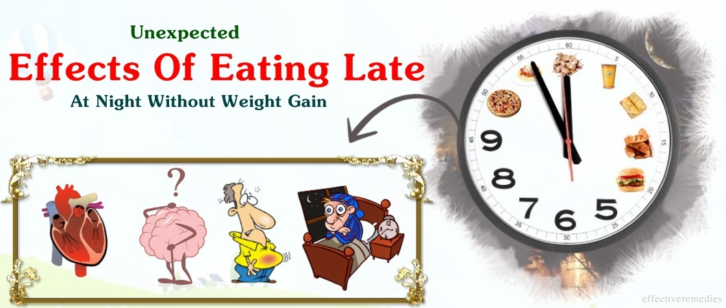 effects of eating late at night