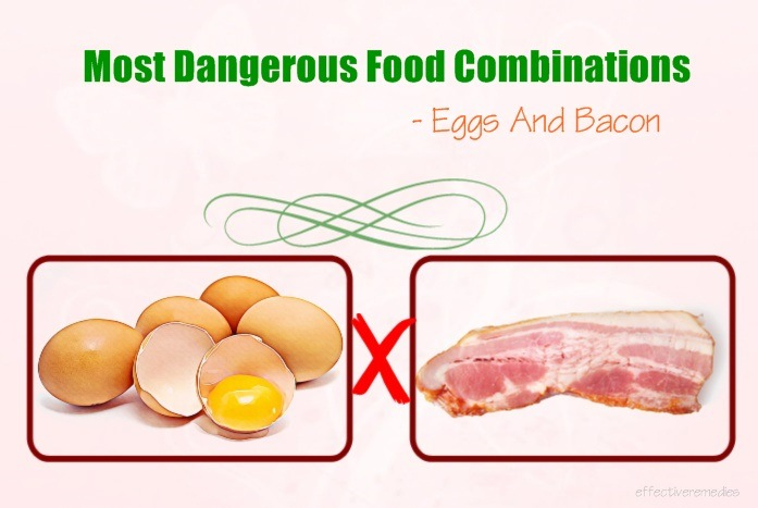 most dangerous food combinations - eggs and bacon