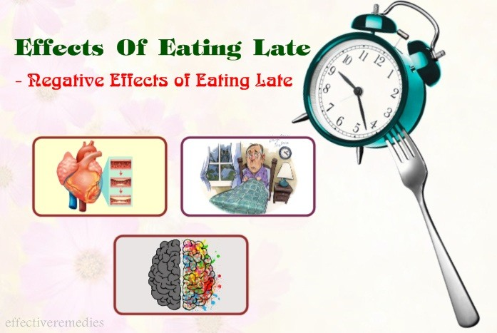 effects of eating late - negative effects of eating late