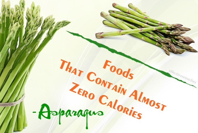 foods that contain almost zero calories - asparagus