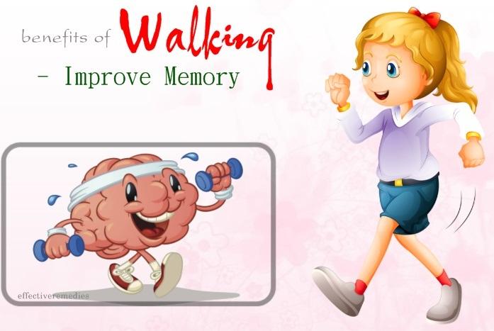 benefits of walking - improve memory